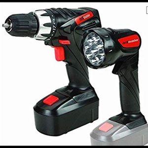 New! Drill Master Cordless Drill & Flashlight Kit